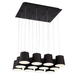 Eurofase Borto Collection, 12-Light LED Black Chandelier