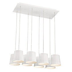 Eurofase Borto Collection, 8-Light LED White Chandelier