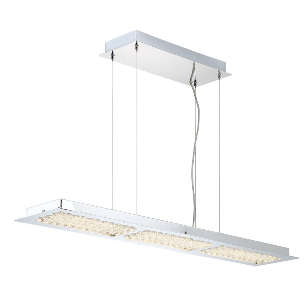 Denso Collection, 3-Light LED Chrome Chandelier