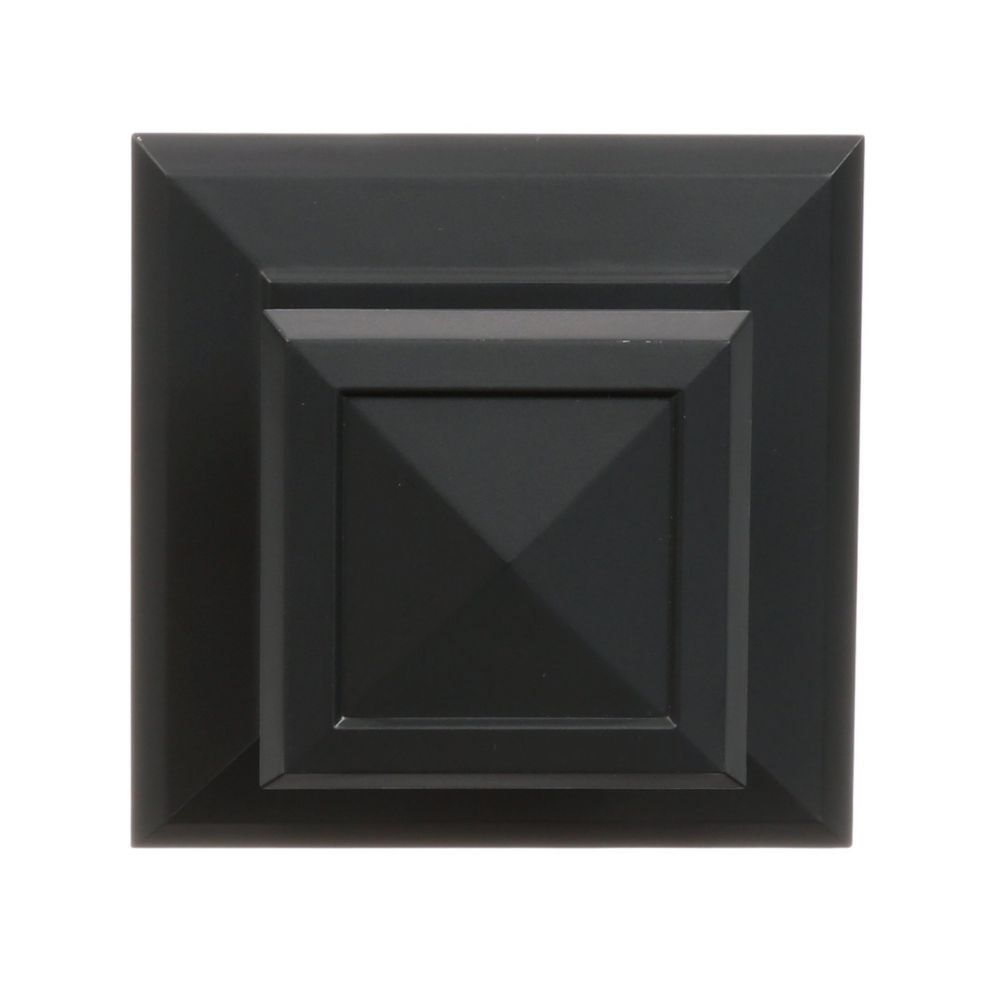 Command Medium Decorative Knob, 17055S-EF, square, slate