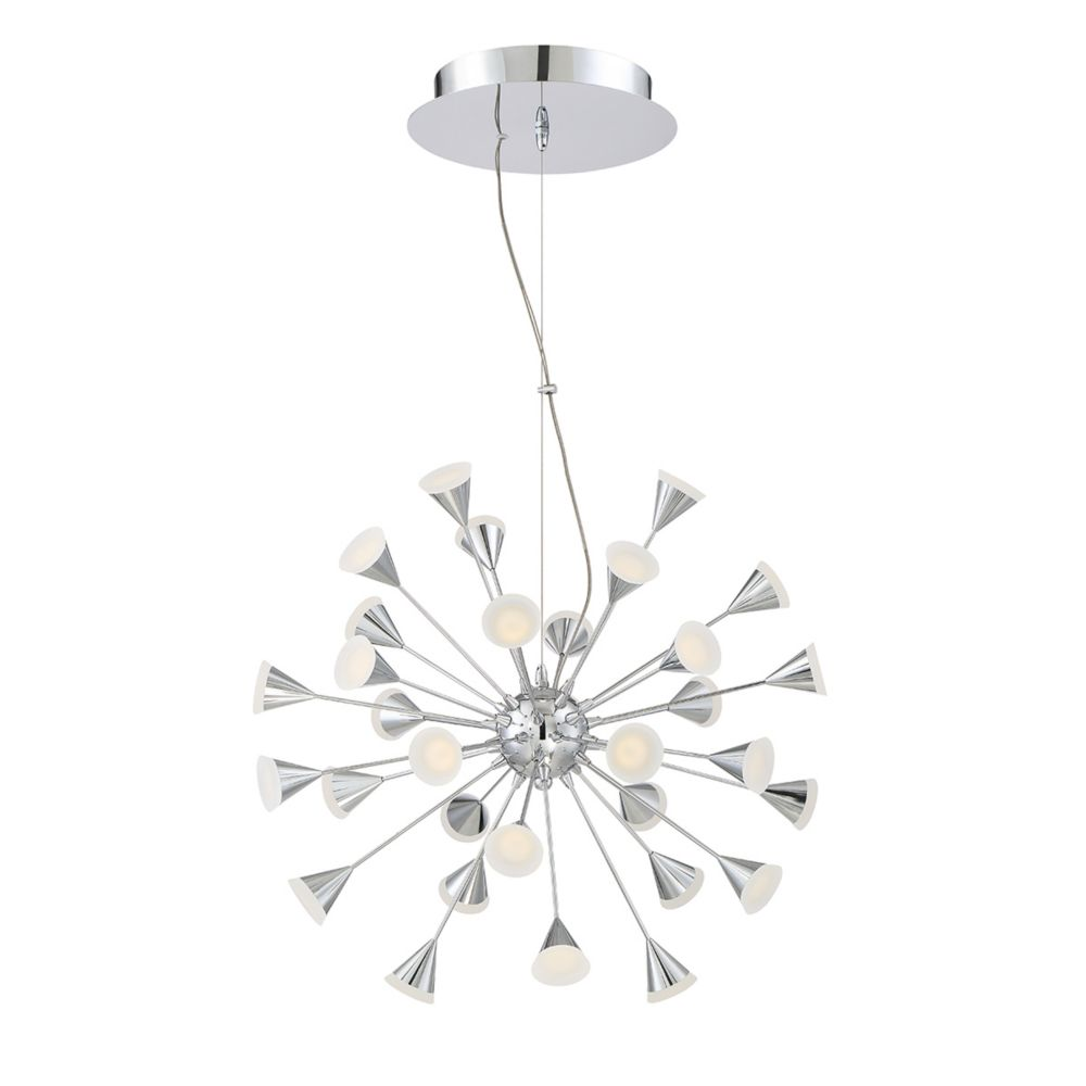 Esplo Collection, 32-Light Convertible LED Chrome Chandelier