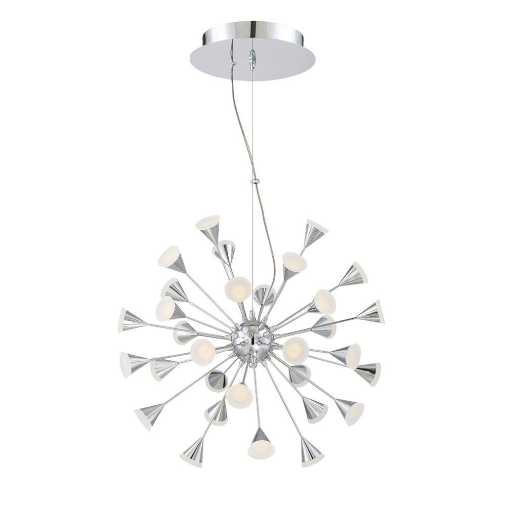 Esplo Collection, 32-Light Convertible LED Chrome Chandelier