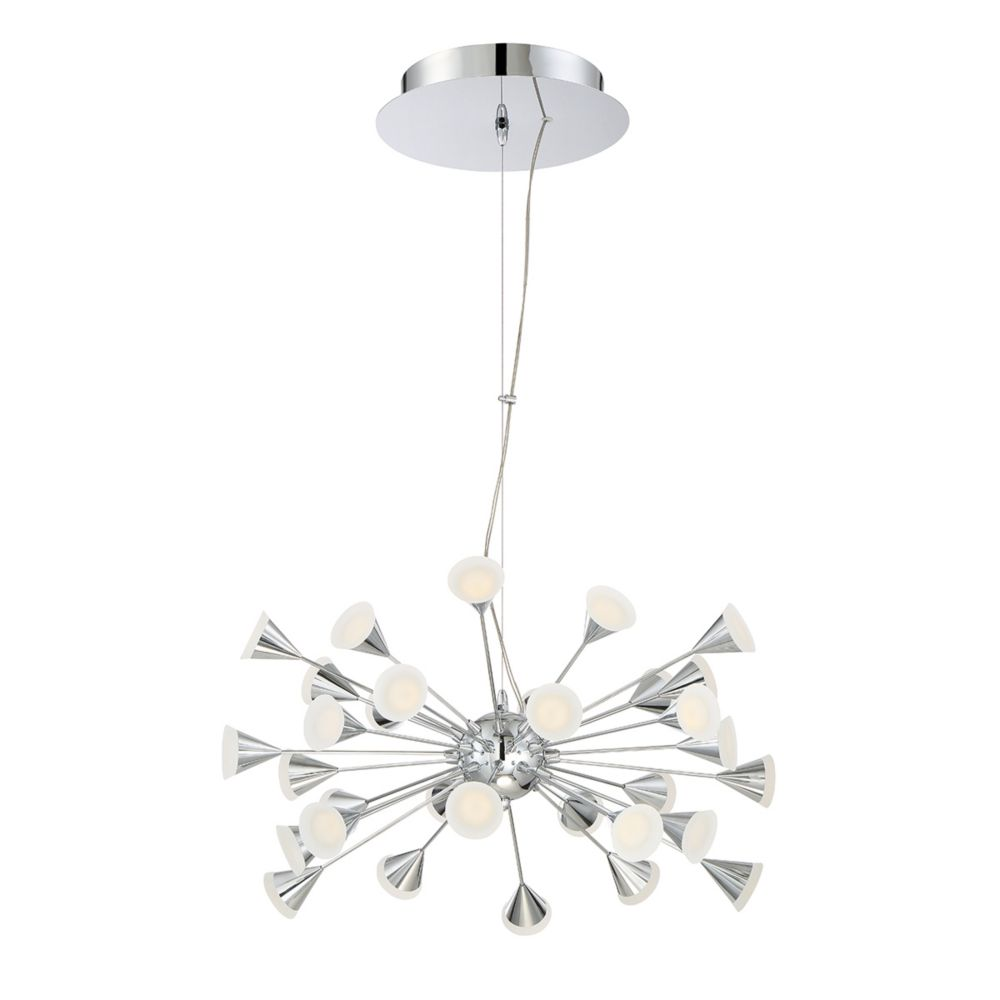 Esplo Collection, 32-Light LED Chrome Chandelier