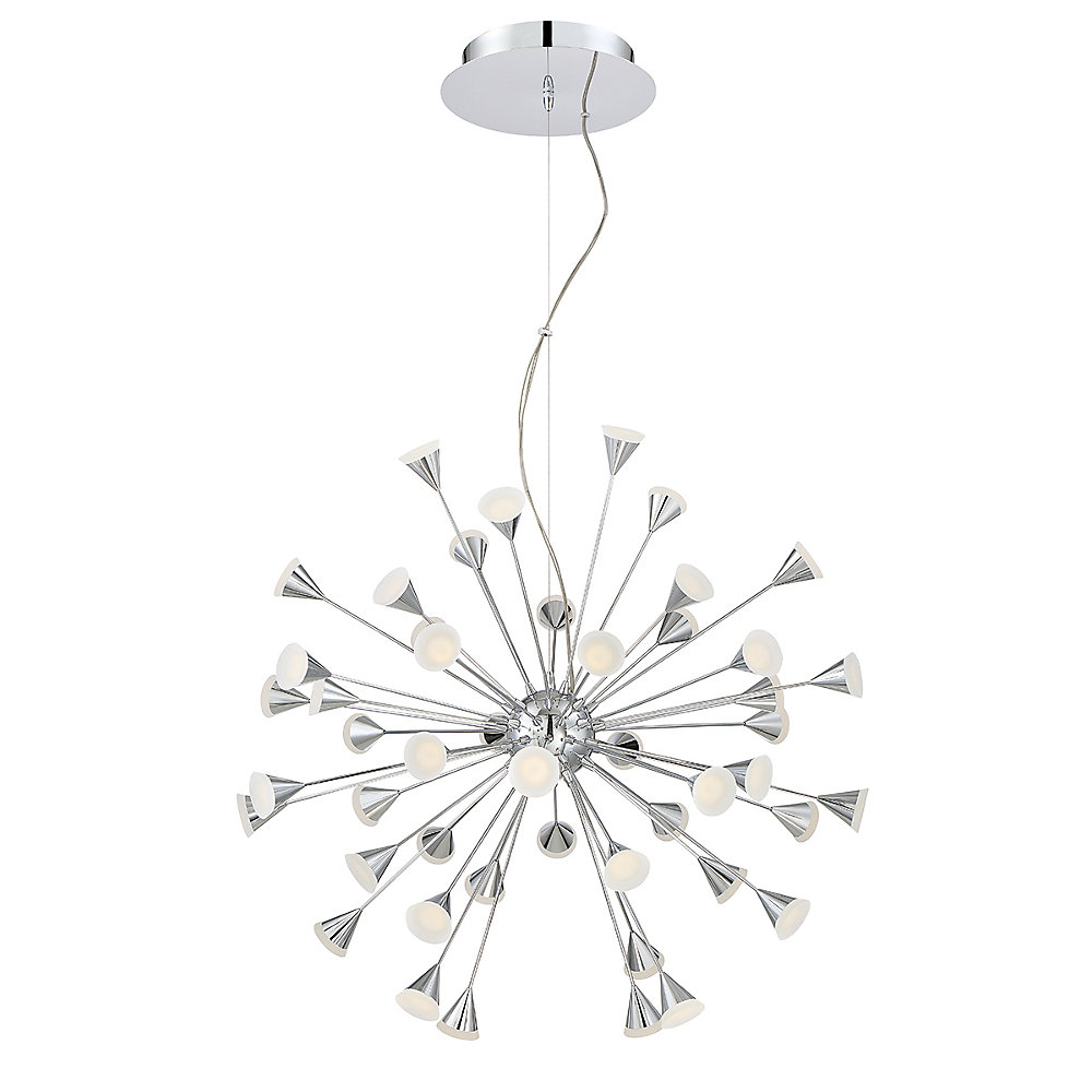 Esplo Collection, 48-Light LED Chrome Chandelier
