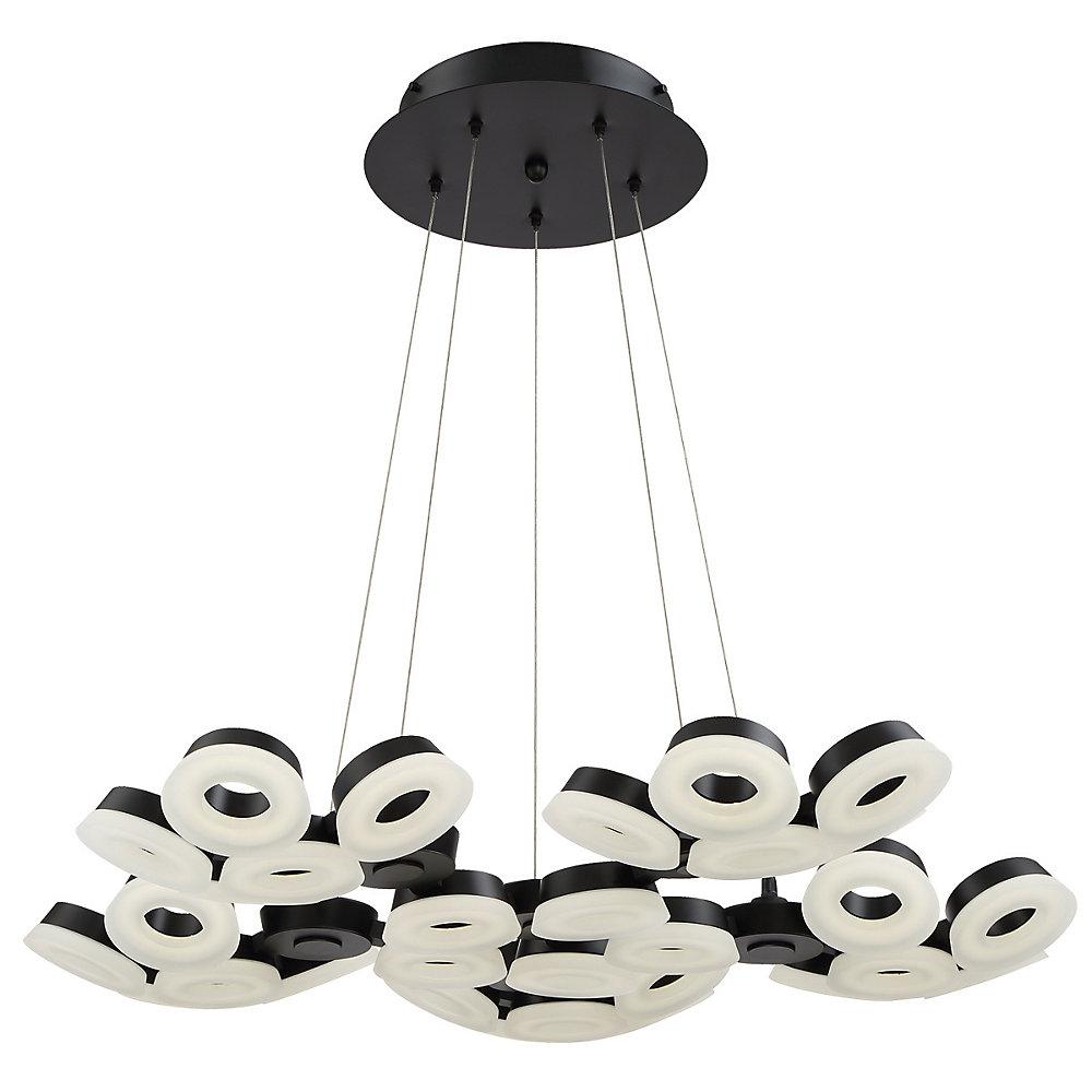 Glendale Collection, 30-Light LED Black Chandelier