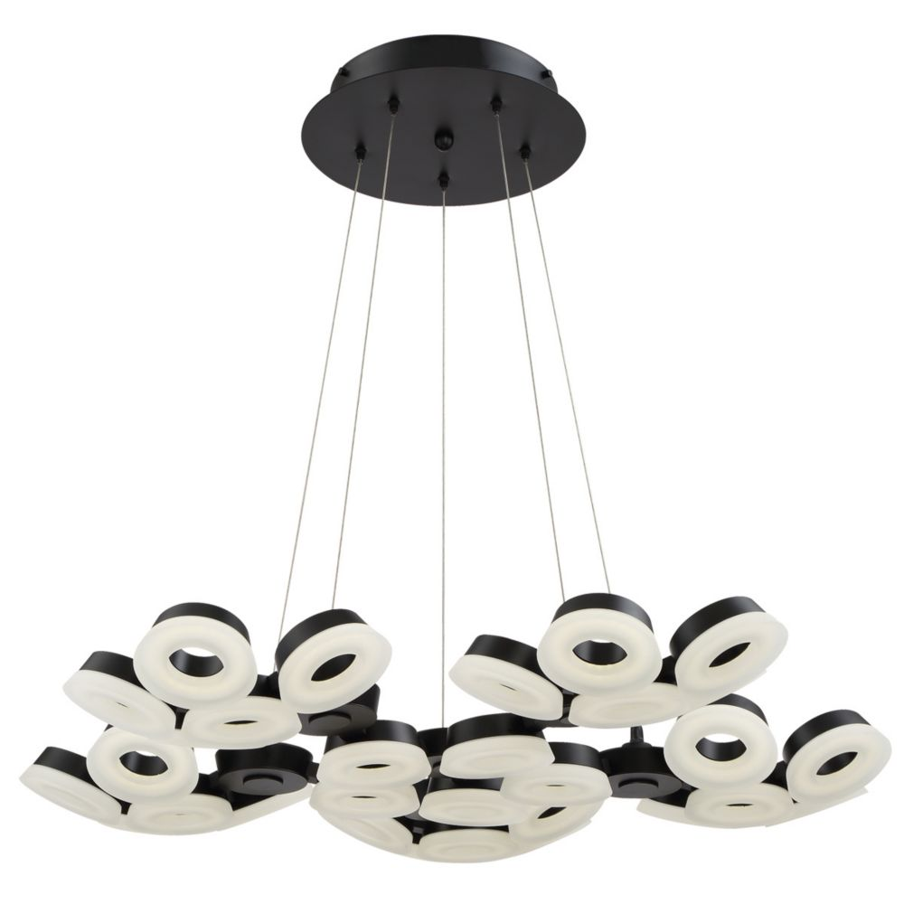 Glendale Collection, 30-Light LED Black Chandelier