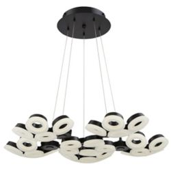 Eurofase Glendale Collection, 30-Light LED Black Chandelier