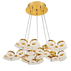 Eurofase Glendale Collection, 30-Light LED Gold Chandelier