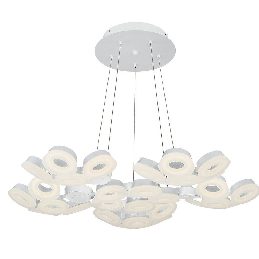 Glendale Collection, 30-Light LED White Chandelier