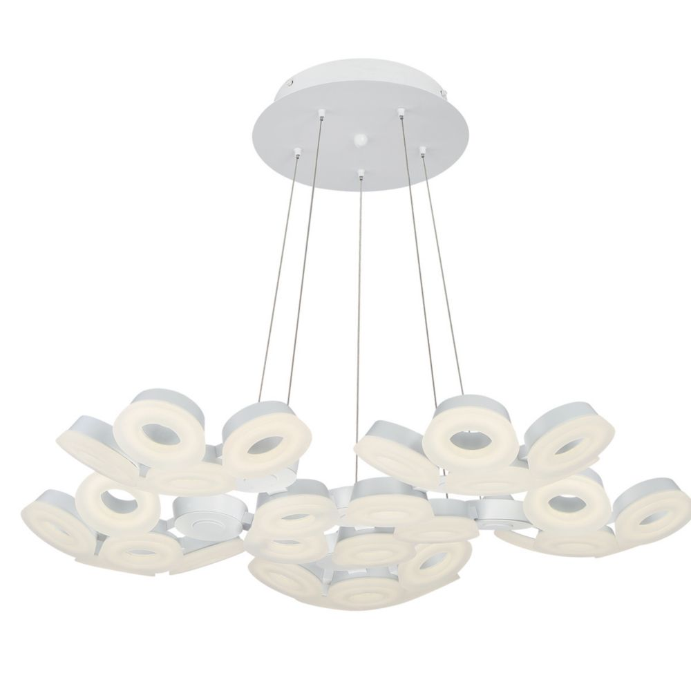 Eurofase Glendale Collection, 30-Light LED White Chandelier