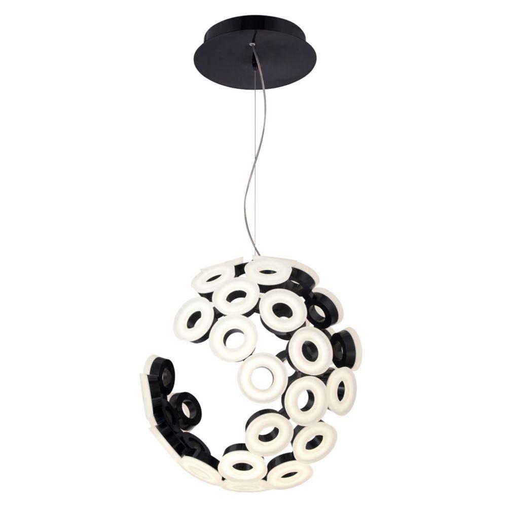Glendale Collection, 35-Light LED Black Chandelier