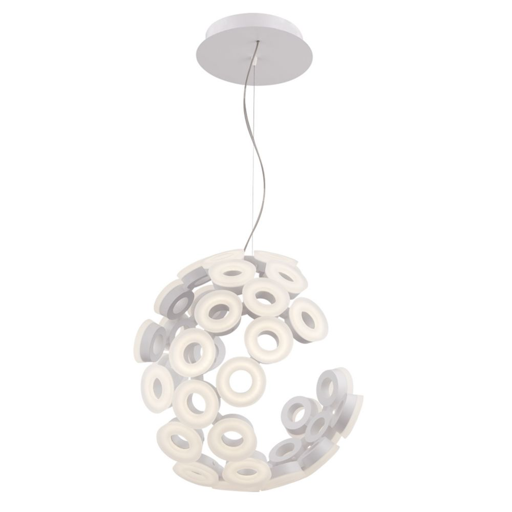 Glendale Collection, 35-Light LED White Chandelier