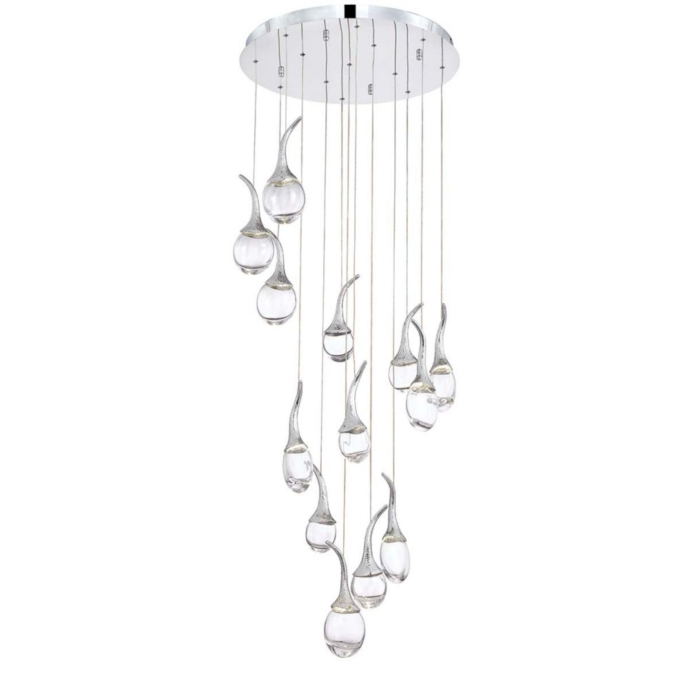 Oz Collection, 13-Light LED Chrome Chandelier