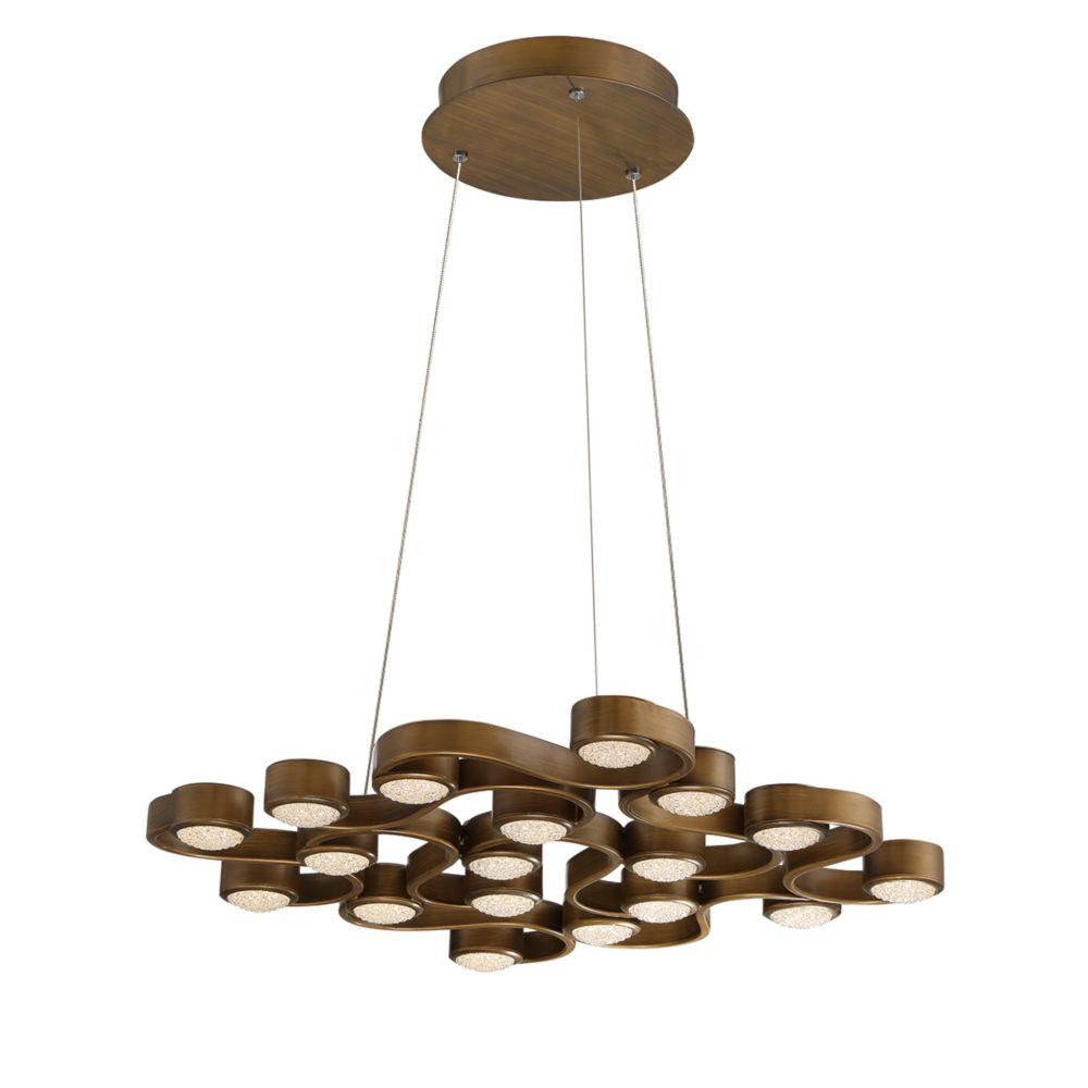 Eurofase Pallazo Collection, 18-Light LED Bronze Chandelier