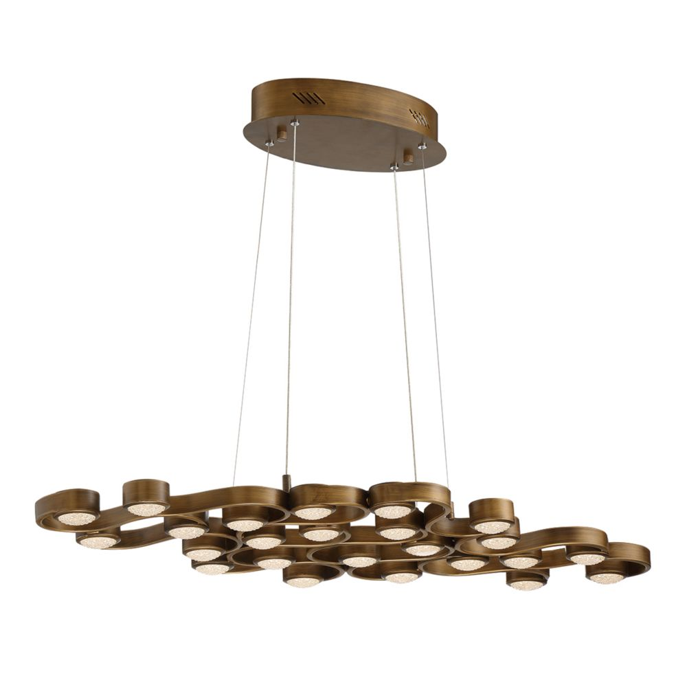 Pallazo Collection, 24-Light LED Bronze Chandelier