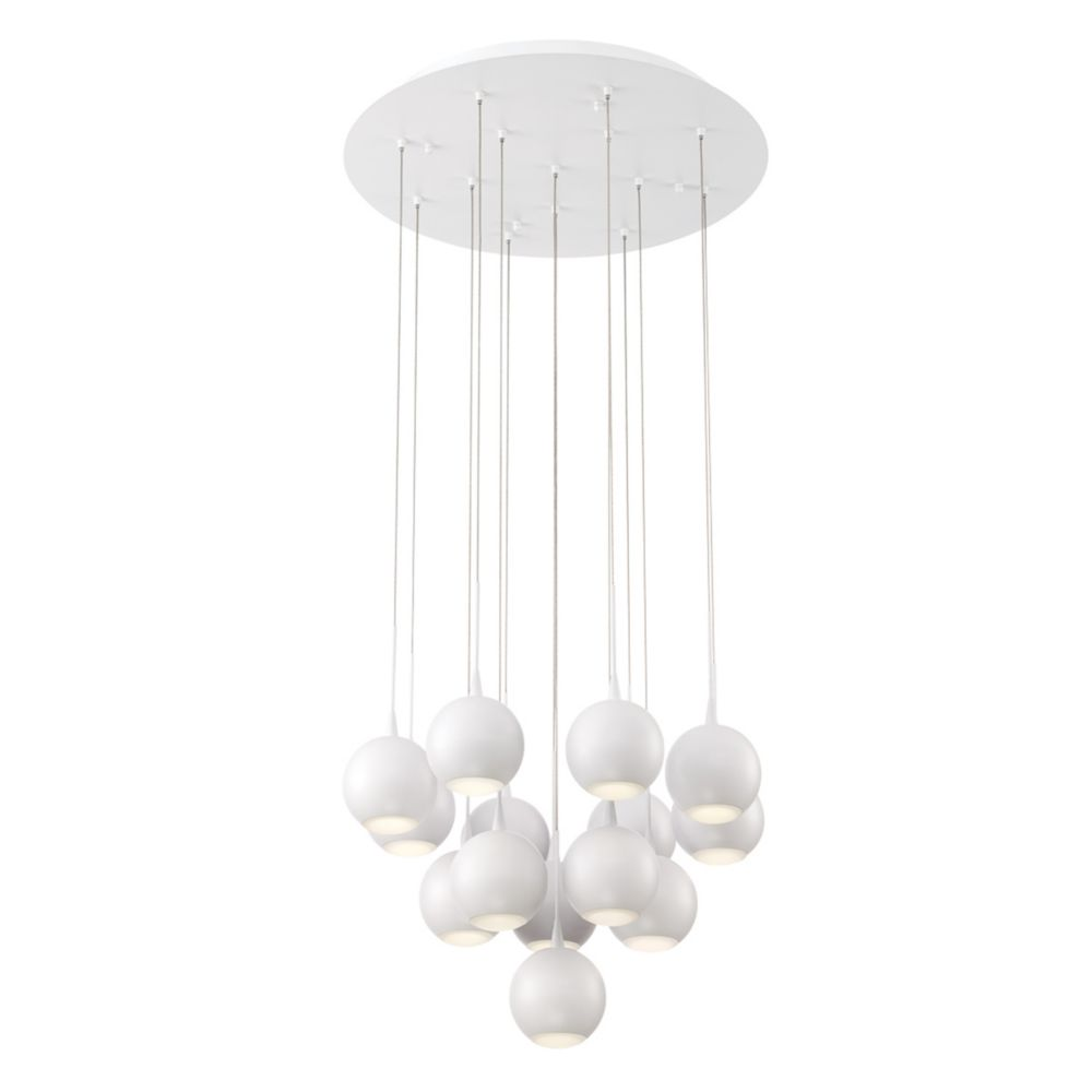 Patruno Collection, 14-Light LED White Chandelier