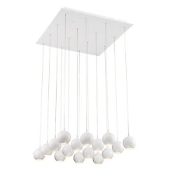 Eurofase Patruno Collection, 16-Light LED White Chandelier