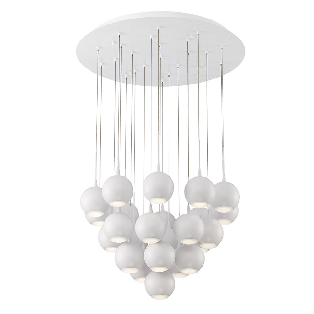 Patruno Collection, 24-Light LED White Chandelier