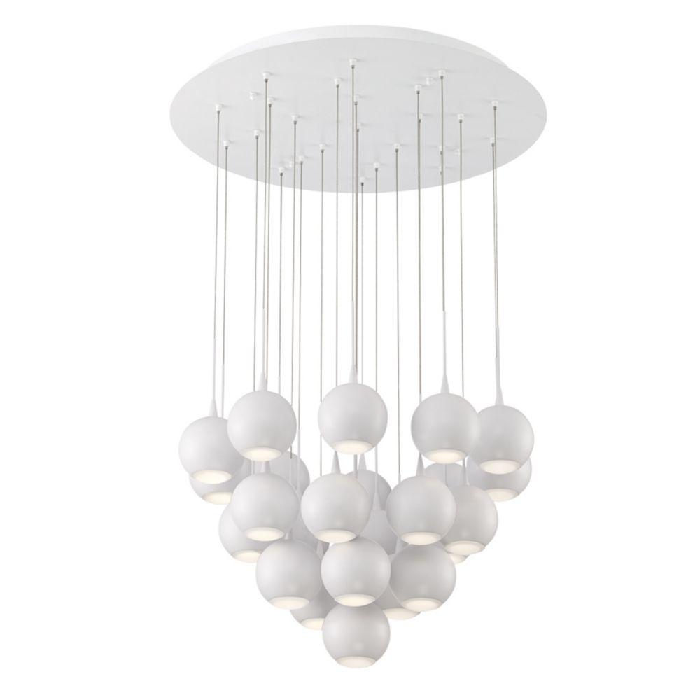 Collection Patruno, lustre blanc à 24ampoules DEL