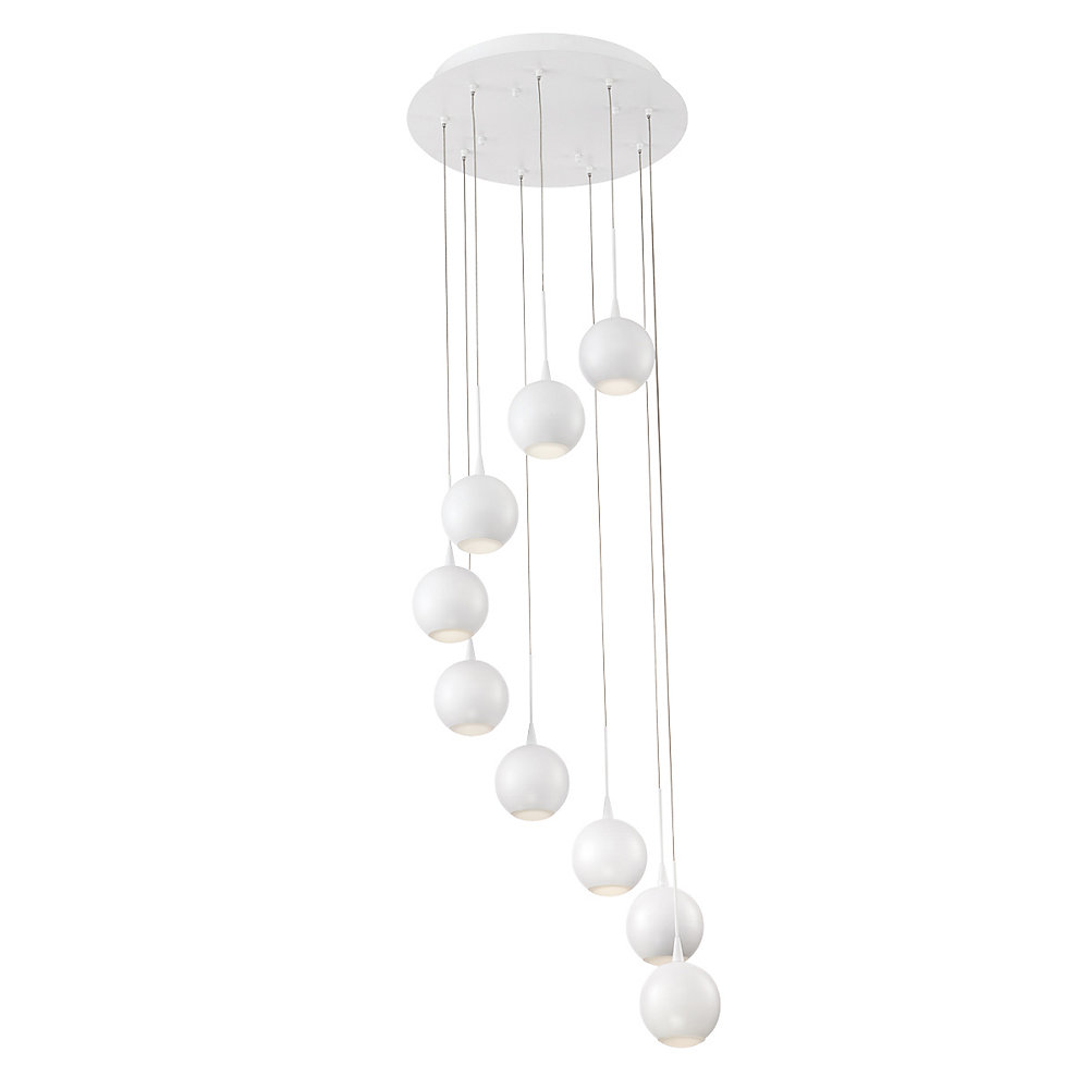 Patruno Collection, 9-Light LED White Chandelier