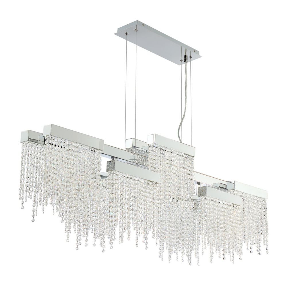 Rossi Collection, 10-Light LED Chrome Chandelier