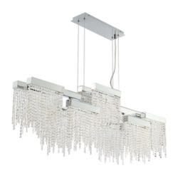 Eurofase Rossi Collection, 10-Light LED Chrome Chandelier