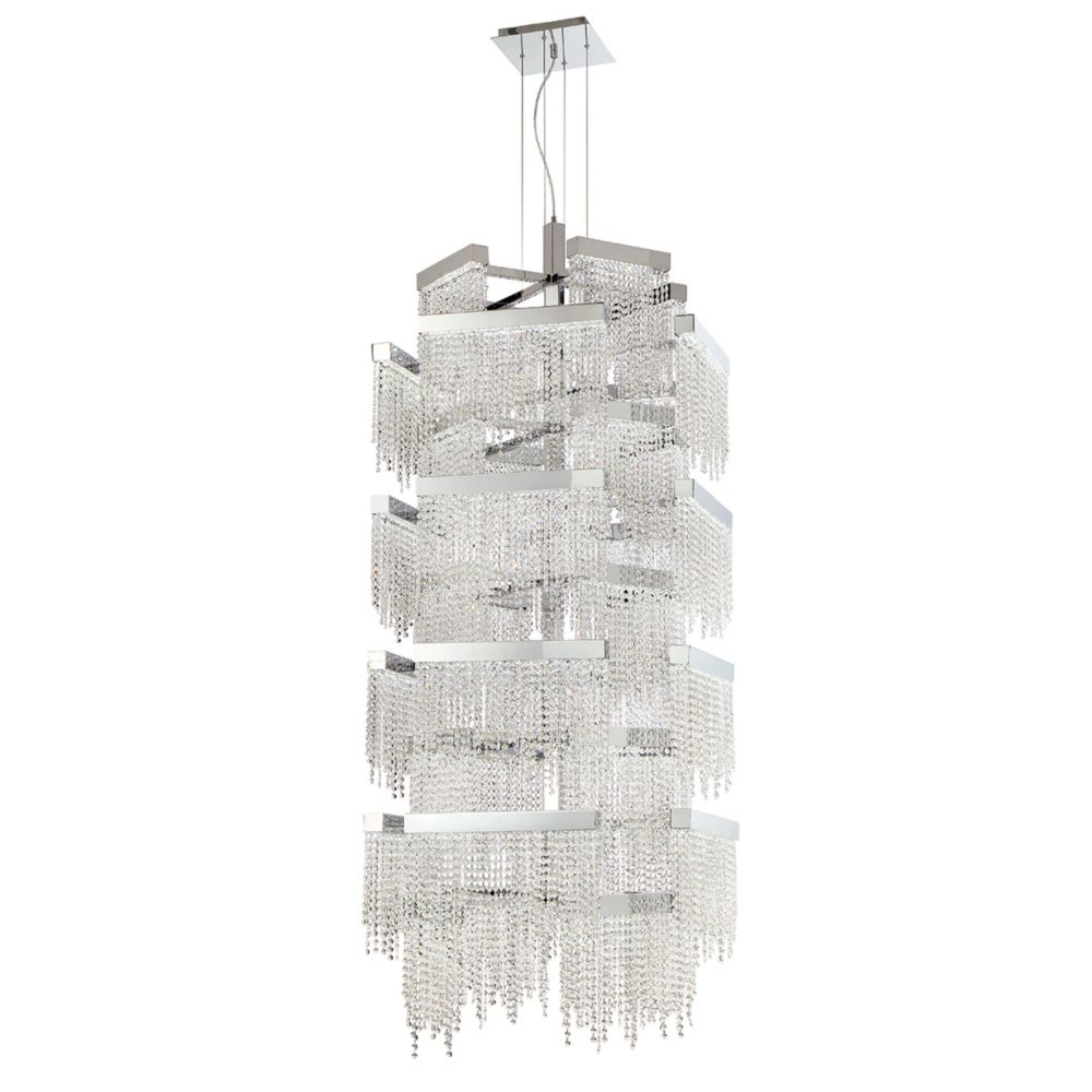 Rossi Collection, 36-Light LED Chrome Chandelier