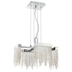 Eurofase Rossi Collection, 4-Light LED Chrome Chandelier