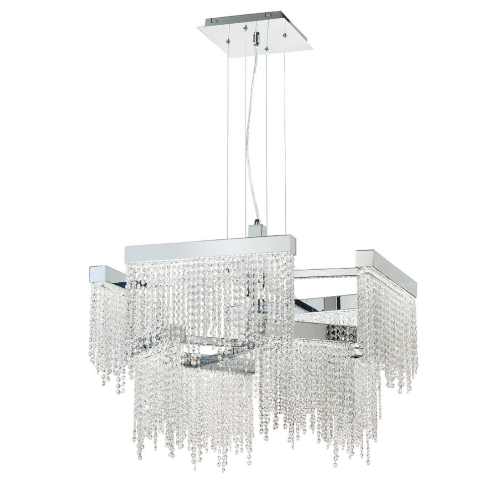 Rossi Collection, 8-Light LED Chrome Chandelier