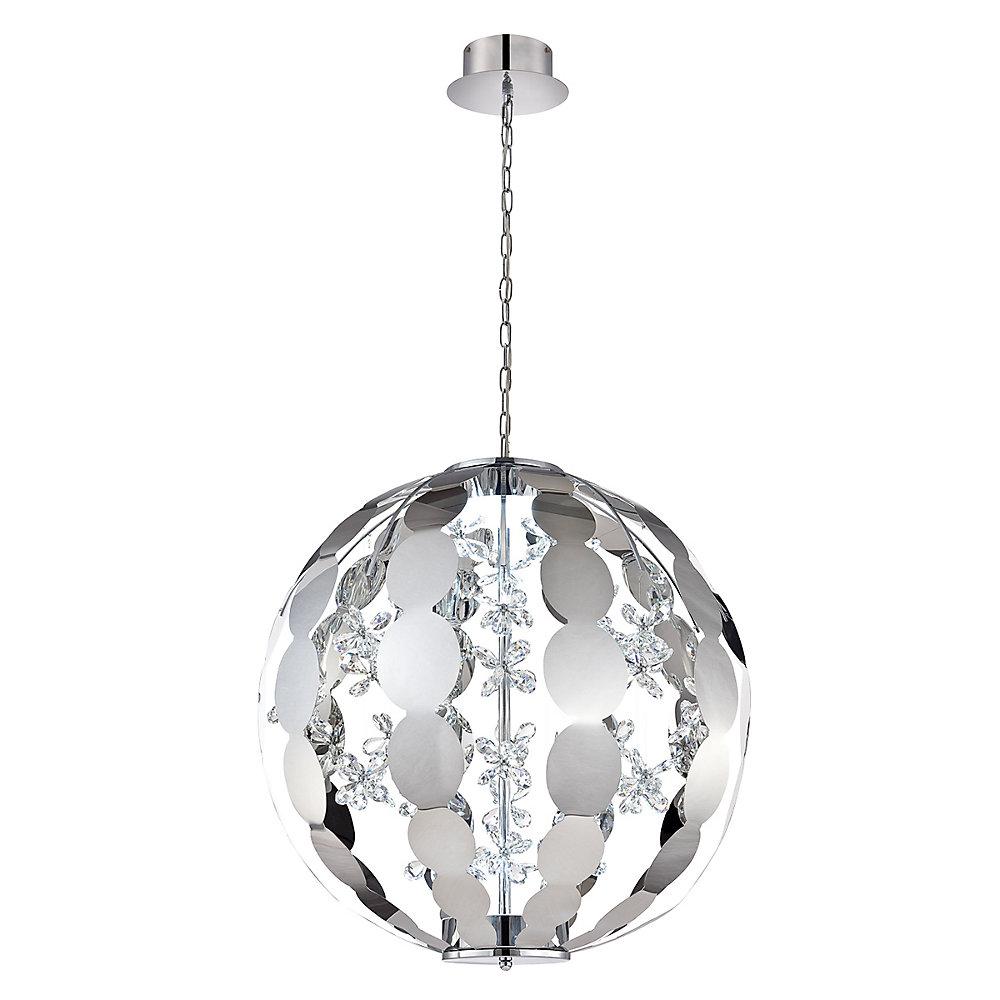 World Collection, 2-Light Large LED Chrome Chandelier
