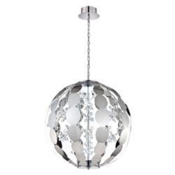 Eurofase World Collection, 2-Light Large LED Chrome Chandelier