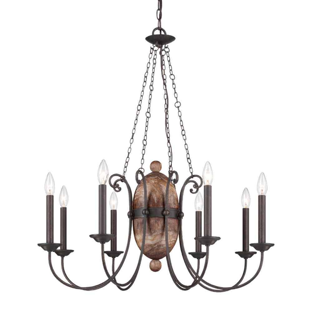 Albero Collection, 8-Light Forged Iron Chandelier