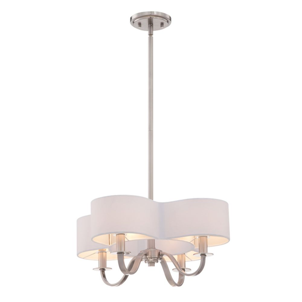 Bertucci Collection, 4-Light Satin Nickel Chandelier