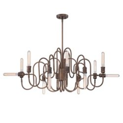 Eurofase Briggs Collection, 12-Light Oil Rubbed Bronze Oval Chandelier