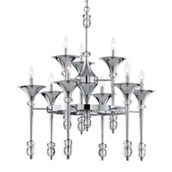 Eurofase Cannello Collection, 9-Light Chrome Chandelier