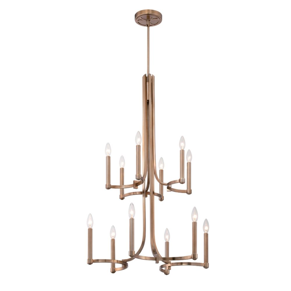 Cantu Collection, 12-Light Gold Chandelier