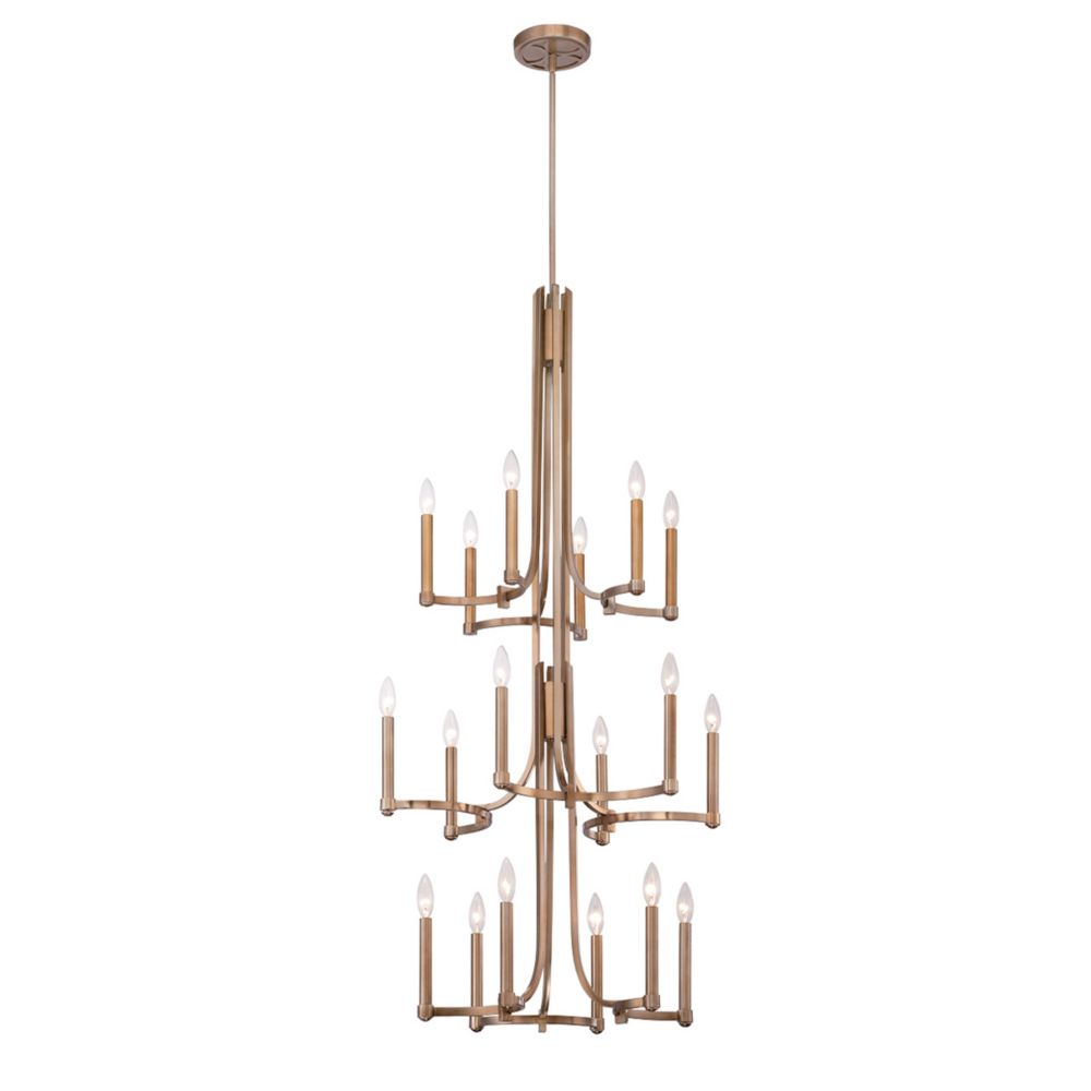 Cantu Collection, 18-Light Gold Chandelier