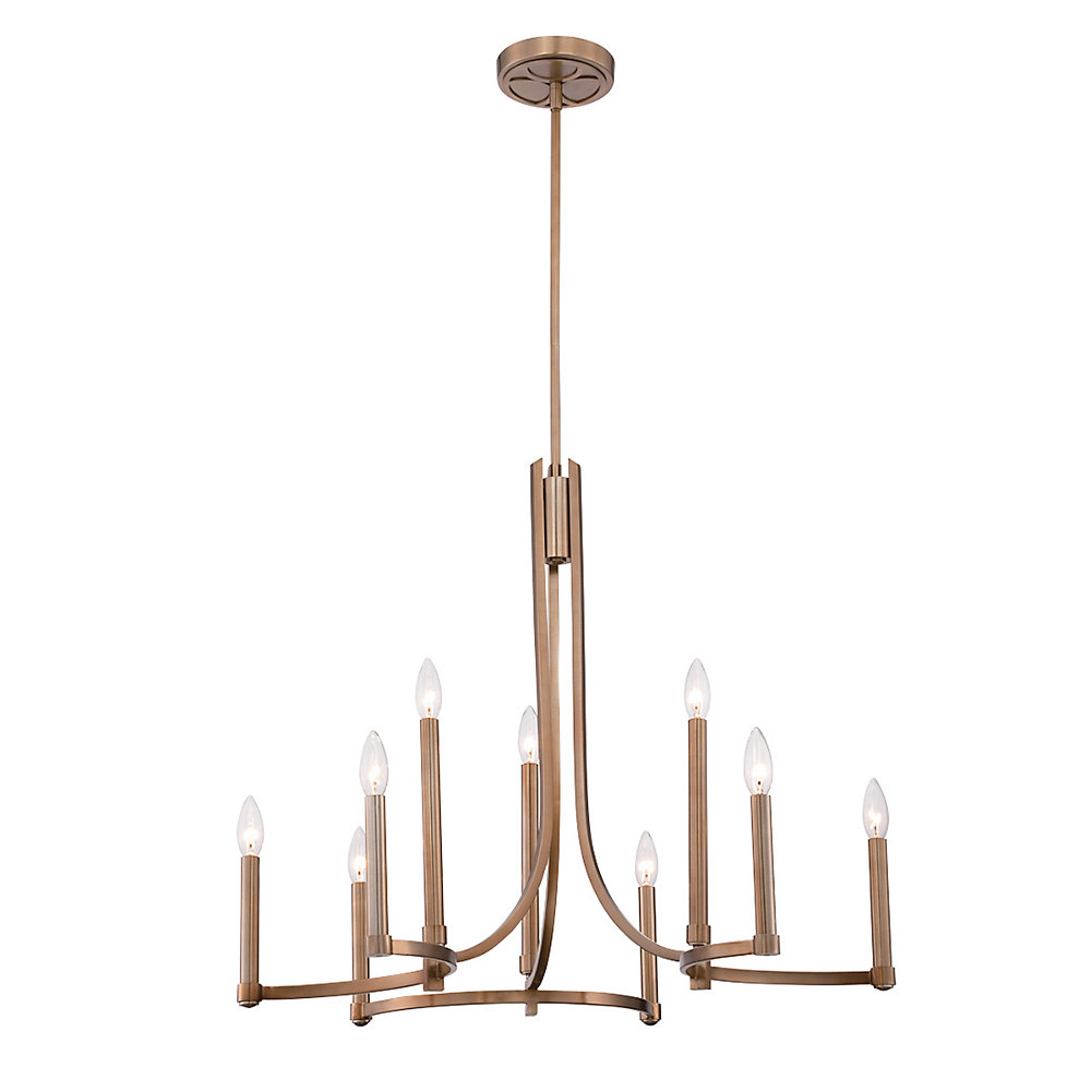 Cantu Collection, 9-Light Gold Chandelier