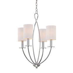 Castana Collection, 4-Light Chrome Chandelier