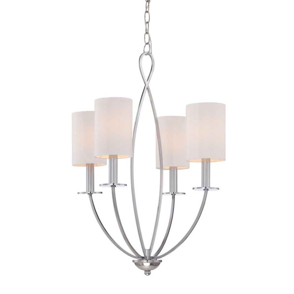 Eurofase Castana Collection, 4-Light Chrome Chandelier