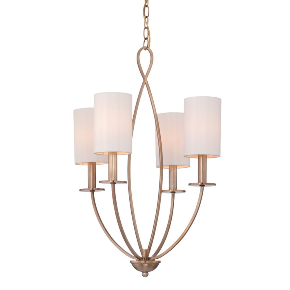 Castana Collection, 4-Light Gold Chandelier