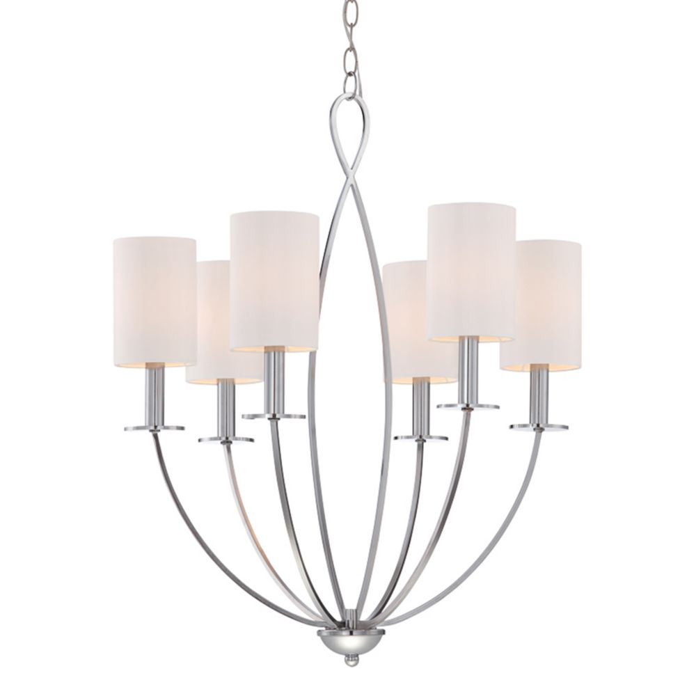Eurofase Castana Collection, 6-Light Chrome Chandelier