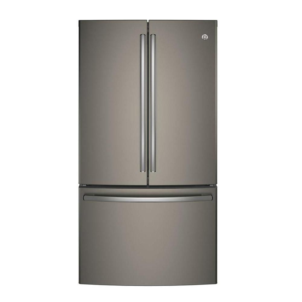 "GE 36"""" 28.5 cu. ft. French Door Refrigerator in Slate - ENERGY STAR®"