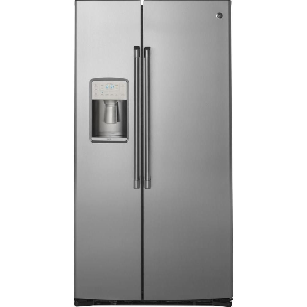 Stainless Steel 21.9 Cu. Feet Side-by-Side Refrigerator with Dispenser