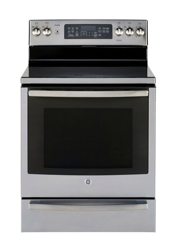 GE Profile 30 Inch Free Standing Electric Self Clean Convection Range with Warming Drawer