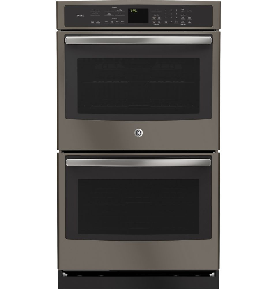GE Profile Slate 30 Inch Electric Convection Self Cleaning Double Wall Oven with Convection