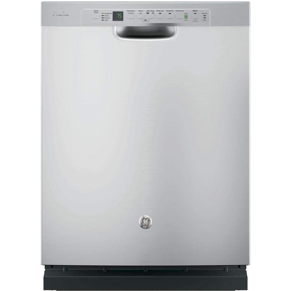 Stainless Steel Built In Tall Tub Dishwasher with Front Controls