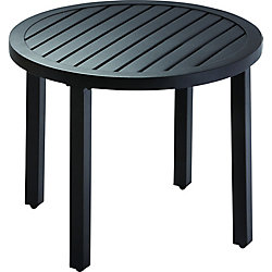 Hampton Bay 22-inch Patio Side Table with Slat Top
