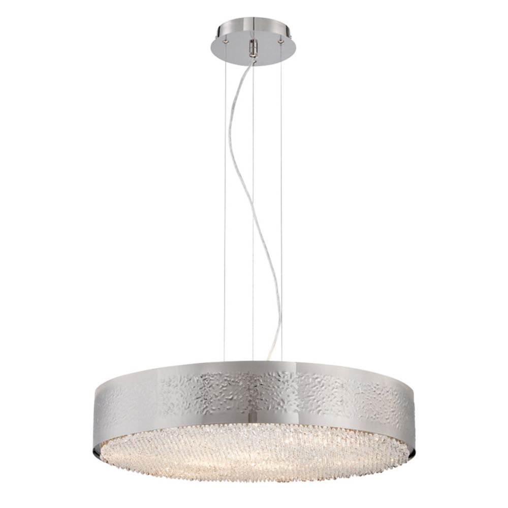 Cara Collection, 9-Light Satin Nickel Chandelier