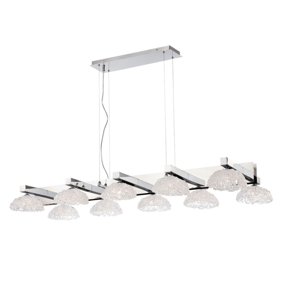 Caramico Collection, 10-Light Chrome Chandelier